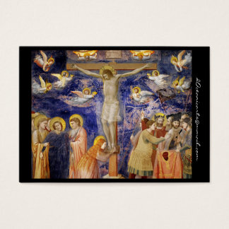 Medieval Good Friday Scene Business Card