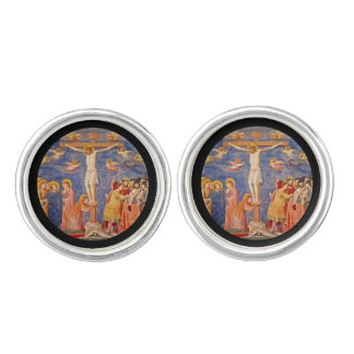 Medieval Good Friday Scene Cufflinks