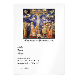 Medieval Good Friday Scene Magnetic Card