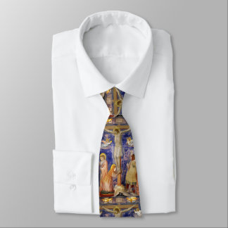 Medieval Good Friday Scene Tie