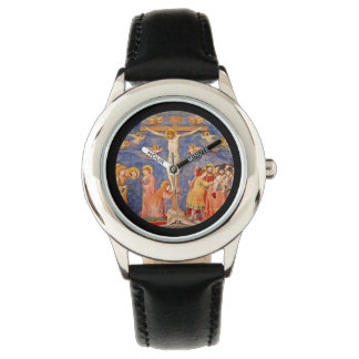 Medieval Good Friday Scene Wrist Watch