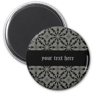 Medieval gothic flower customizable magnet