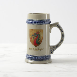 Medieval Green Dragon Shield Beer Stein