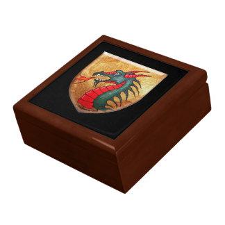 Medieval Green Dragon Shield Gift Box