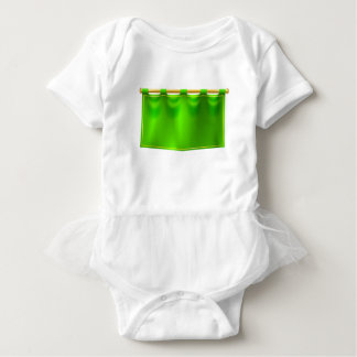 Medieval Green Royal Banner Flag Baby Bodysuit
