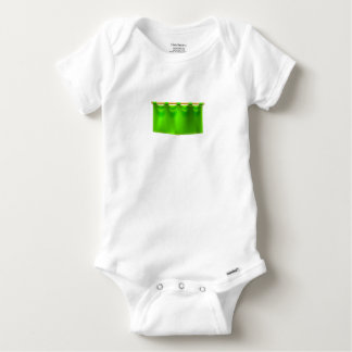 Medieval Green Royal Banner Flag Baby Onesie