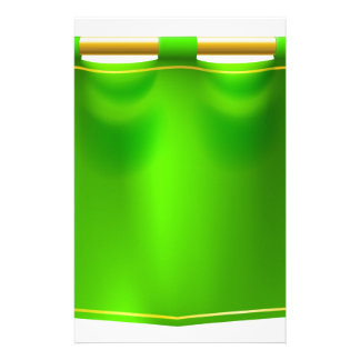 Medieval Green Royal Banner Flag Stationery