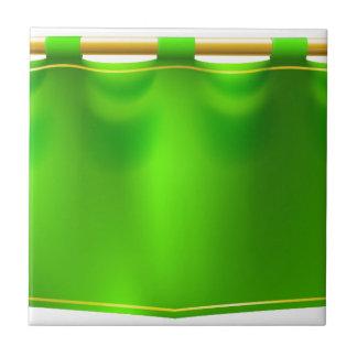 Medieval Green Royal Banner Flag Tile