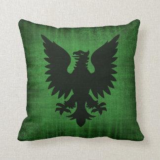 Medieval Green Velvet Cushion
