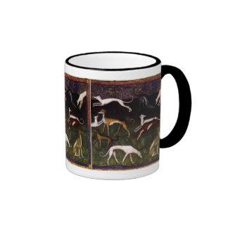 Medieval Greyhounds Fine Art Mugs