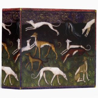 Medieval Greyhounds in the Deep Forest Vinyl Binder