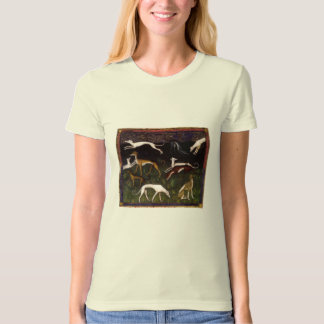 Medieval Greyhounds in the Deep Woods T-Shirt