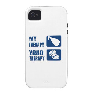 medieval harp is my therapy vibe iPhone 4 cover