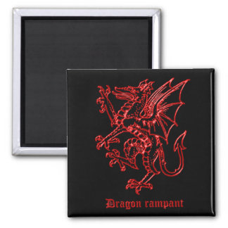 Medieval Heraldry Dragon Magnet