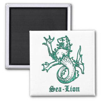 Medieval Heraldry Sea-lion Magnet