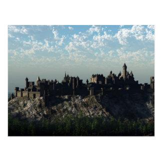 Medieval Hilltop Castle Postcard