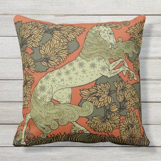 Medieval Horse Art Outdoor Pillow