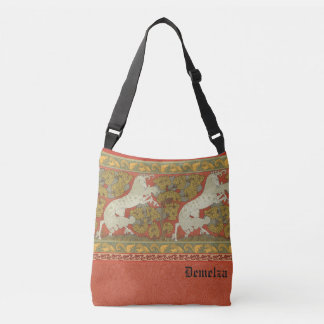 Medieval Horses Design Crossbody Bag