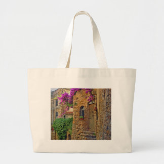 Medieval House in Charming Italy Large Tote Bag