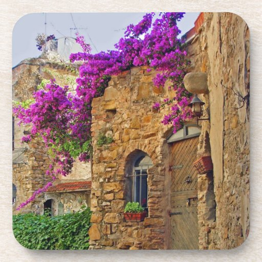 Medieval House in Scenic Charming Italy Drink Coaster