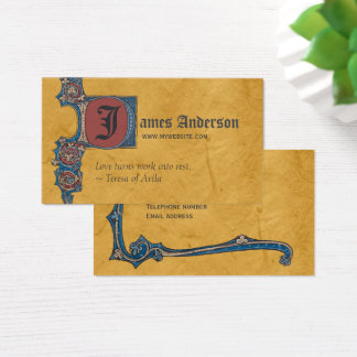 Medieval illumination Bute CC0263 Add your initial Business Card