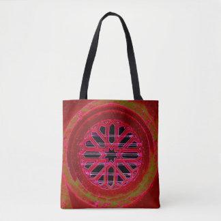 medieval irish church window tote bag