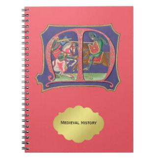 Medieval Joust Spiral Notebook