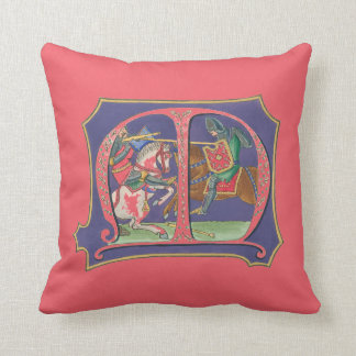 Medieval Joust Throw Pillow