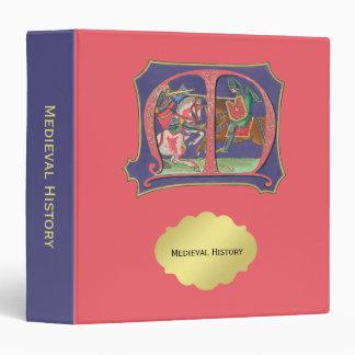 Medieval Joust Vinyl Binder