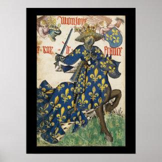 Medieval King of France Poster