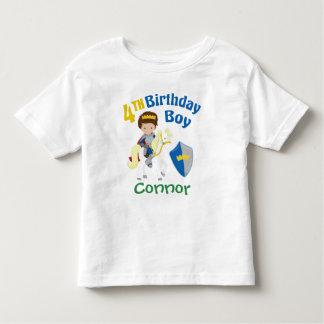 Medieval Knight 4th Birthday Boy Toddler T-shirt