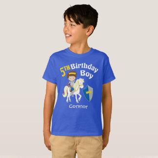 Medieval Knight 5th Birthday T-Shirt