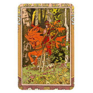 Medieval Knight and Horse Magnet