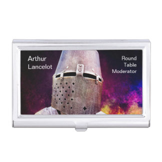 Medieval Knight Funny Customizable Business Card Holder