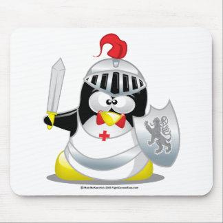 Medieval Knight Penguin Mouse Pad