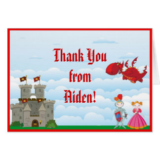 Medieval Knight Thank You Note Card