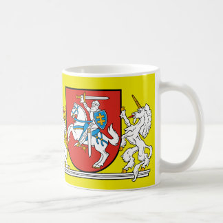 Medieval Knight w/ Coat of Arms from Lithuania Coffee Mug