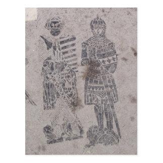 Medieval Knights Graffiti Postcard