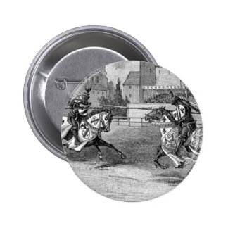 Medieval Knights Jousting 2 Inch Round Button