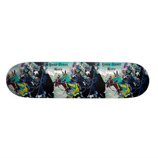 medieval knights jousting horses historic art skateboards