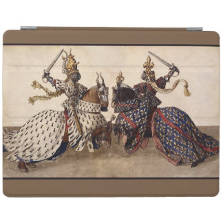 Medieval knights jousting iPad cover