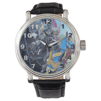 medieval knights jousting on horses art design wristwatch