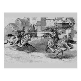 Medieval Knights Jousting Postcard