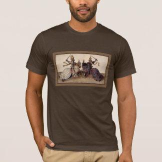 medieval knights on horseback jousting T-Shirt