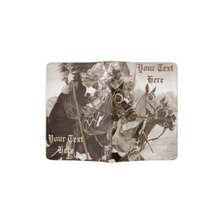 medieval knights on horses historic realist art passport holder