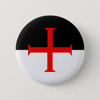 Medieval Knights Templar Cross Flag 2 Inch Round Button