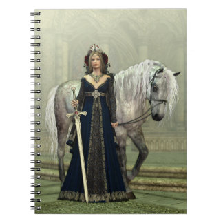 Medieval Lady and Horse Notebook