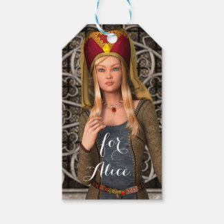 Medieval Lady Pack Of Gift Tags