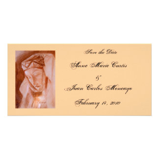 Medieval Lady Theme Save the Date Customized Photo Card