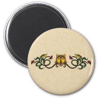 Medieval Lion Design 2 Inch Round Magnet